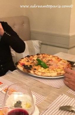 Pizza was massive