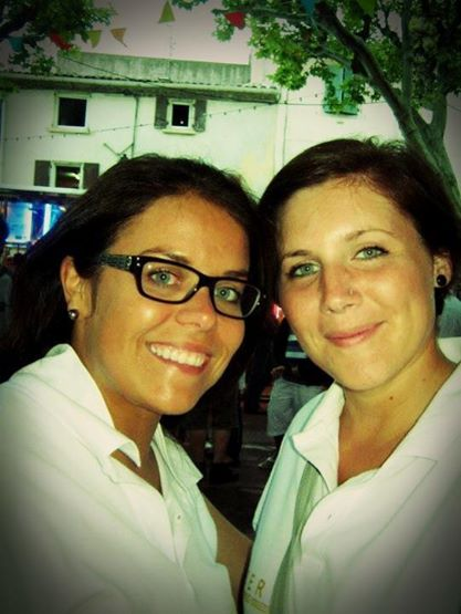 Kari and I at a 'Fête Votive'