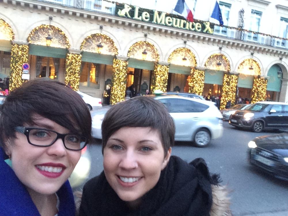 Outside the hotel on Rue Rivoli
