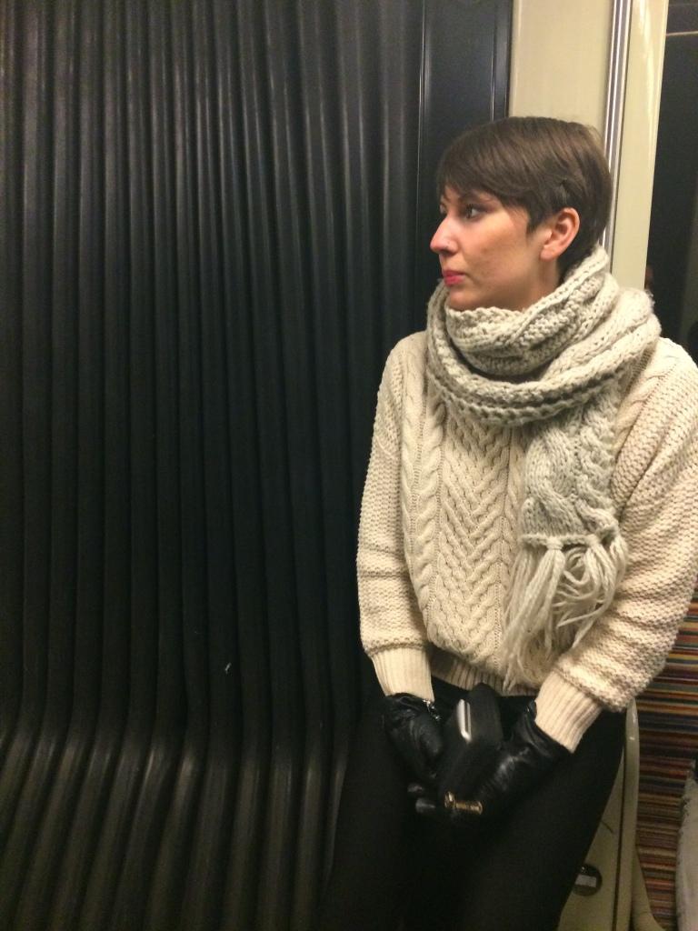 Kendra in the Metro
